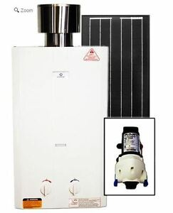 Eccotemp L10 Tankless Water Heater (w/ 12V pump & 30W Solar Kit)
