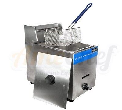 New Commercial Countertop Gas Fryer 1 Basket Ugf-71 Propane Lpg Whose