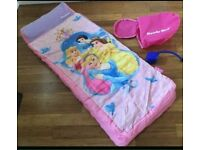 DISNEY PRINCESS READY BED. GOOD CONDITION. IDEAL FOR SLEEPOVERS