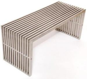 Steel Brushed Finish Pavilion Small Bench-MS 18 in Toronto Furniture Sale (BD-1453)