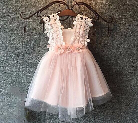 Baby clothes baby Kid Girls Summer Dress Girl Pageant  Wedding Dress Lace Flower