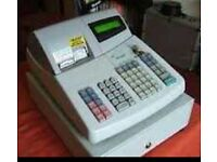 Sharp cash register with customer display and 3 keys