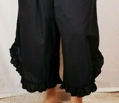 Ladies Ruffle Bottom One Size Pants - Boho Style - Various Colors - FREE SHIP