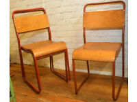 24 available ply stacking vintage chairs antique industrial restaurant retro seating cafe wooden