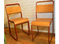 21 available ply stacking vintage chairs antique industrial restaurant retro seating cafe wooden
