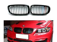 M Color ABS Kidney Grill Grille Strip Covers For BMW 3 Series F30 2013-2015