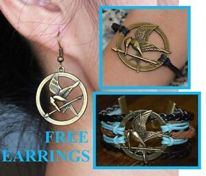 FREE Earrings with ANY Hunger Games Mockingjay Bracelet for $4!