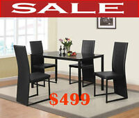 On Sale today, dinettes, dining room tables, chairs, hatches