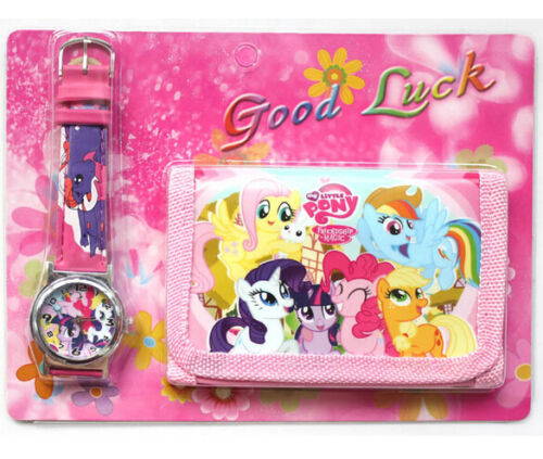 My-little-Pony-Kids-wallet-and-watch-sets-gift-girls-children-purse-watches