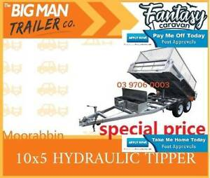 10×5 GALVANISED HYDRAULIC TIPPER TRAILER WITH CAGE 3.5T ATM BRAND