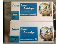 Brand New Laser Toner Cartridge Black And Yellow
