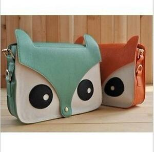 Fashion-Retro-Contrast-Color-Owl-Messenger-Pu-Material-Hobo-Shoulder-Bag