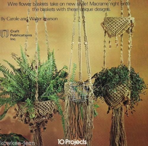 Macrame Plant Hanger Patterns Ebay