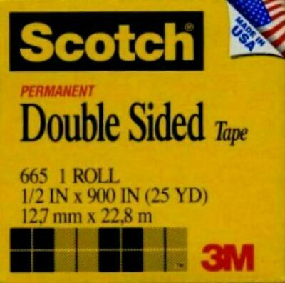 6 Rolls Scotch Tape Item 665 Double Sided 12x900 - 50 Off Retail