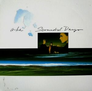 A-HA Vinyl Album - Scoundrel Days - U.S. Pressing w/ Insert