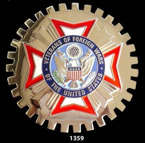 VFW VETERANS OF FOREIGN WARS CAR GRILLE BADGE EMBLEM MILITARY