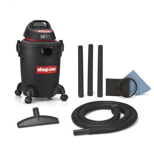 Shop Vac 6 gallon 3 HP Wet Dry Vacuum Rear Blower Roll Caste