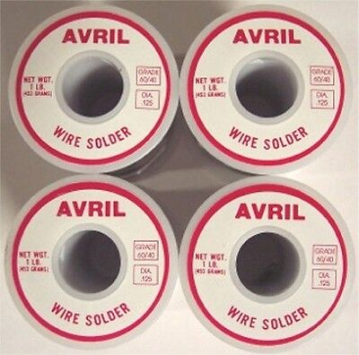 4 Lbs 60/40 Avril Stained Glass Solder - Made in USA!