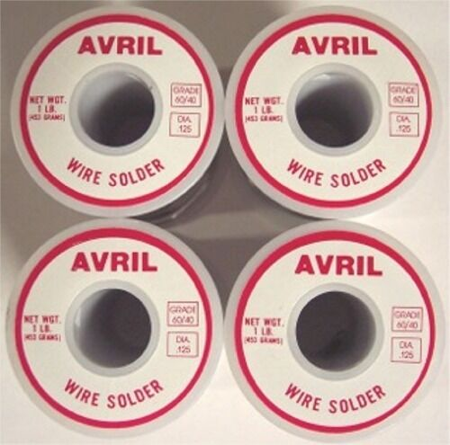 4 Lbs 60/40 Avril Premium Stained Glass Solder - Made in USA! Best Quality