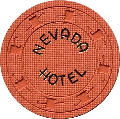 Hotel Nevada, Ely $.10 Casino Chip  MINT
