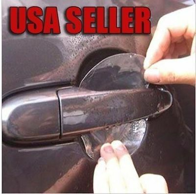 New 4Pcs UNIVERSAL Invisible Clear Car Door Handle Scratch Protector Film Sheet