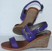 Purple Wedge Heel Shoes