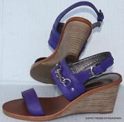 Purple Wedge Heel Shoes