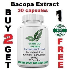 Bacopa Extract 900 mg  bacopa monnieri Made USA Free shipping