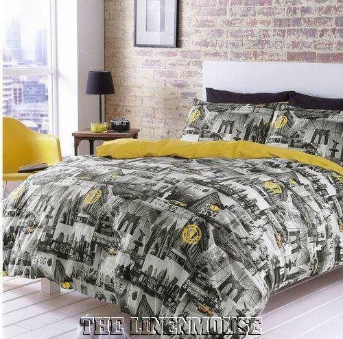 New York Skyline Bedding