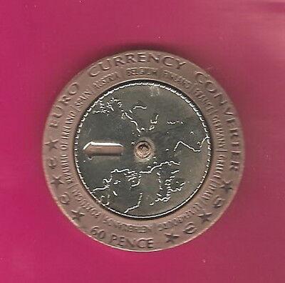 Isle Of Man 2002 60 Pence Euro Currency Converter  Bi Metallic Coin