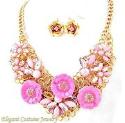 Chunky Flower Necklace Set