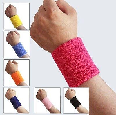 2 X Sport Armbanduhr Schweißbänder Tennis Squash Badminton Fitnessstudio Armband