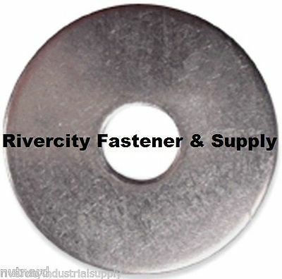 "1/2x2 Fender Washers Stainless Steel 1/2"" x 2"" Large OD Was"