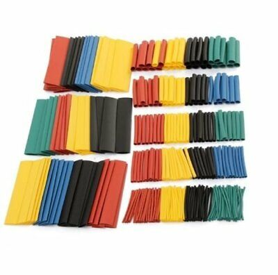 328pcs 2 1 Polyolefin Heat Shrink Tubing Tube Sleeve Wrap Wire Assortment 8 Size