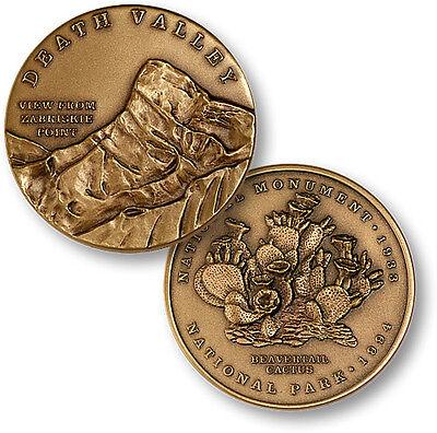 Death Valley National Park Challenge Coin Bronze Medallion Monument California