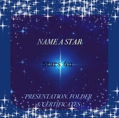☆ NAME A STAR....PERFECT PERSONALISED GIFT...FATHER'S DAY/MOTHER'S DAY