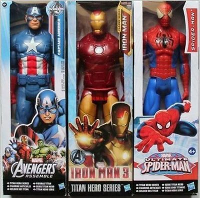 "Avengers Marvel Titan 12"" figure Spider-man Captain Iron man Wolverine Thor Toys"