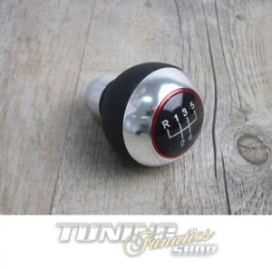 Schaltknauf Knauf Edition Leder Chrom Alu 5-Gang #U16 für Fiat Alfa Dacia