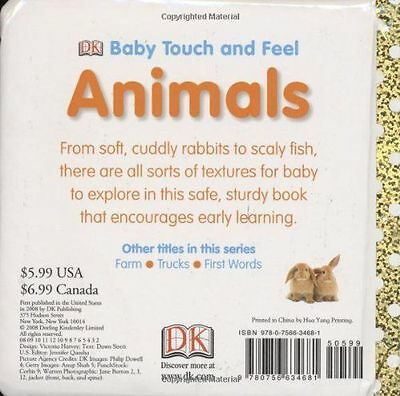 Animals Baby Touch and Feel by DK Publishing Board Book Ebiz