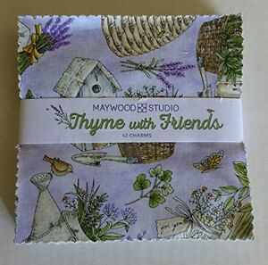 Thyme With Friends Floral Charm Pack, 5