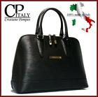 Black Leather Bag Italy