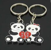 Panda Couple Keychain