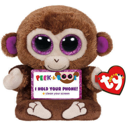 TY Beanie Babies Boo Peek A Boos CHIMPS the MONKEY Phone Holder New with Tags