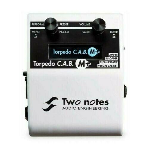 Two Notes Torpedo C.A.B. M+ Speaker Cab IR Simulator Pedal CAMB DI Direct Box