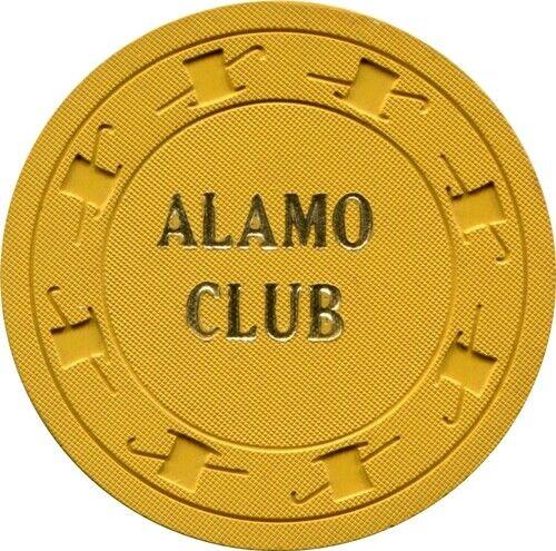 Alamo Club, Pioche $.25 Casino chip MINT