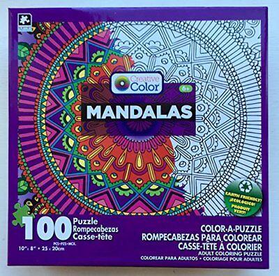 Mandala Color/Puzzle 100p Size Ea Mandala Color A Puzzle 100pc Asst