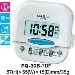 CASIO CLOCK PQ-30B-7DF PQ30 ALARM LED LIGHT 12 MONTH WARRANTY