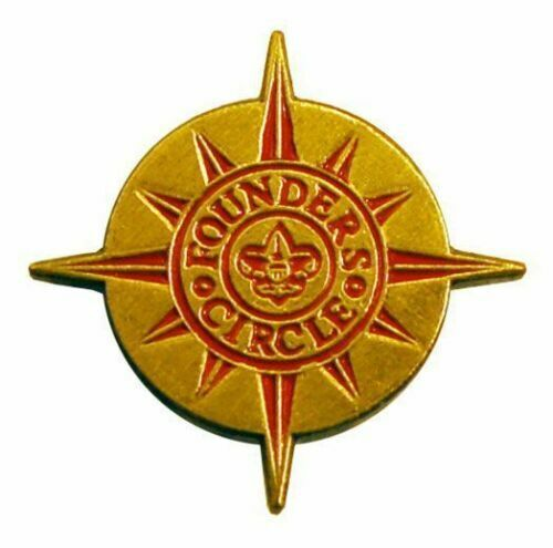 BSA Official Boy Scout Founders 3 pin set $100000, $500000 $1000000 donations