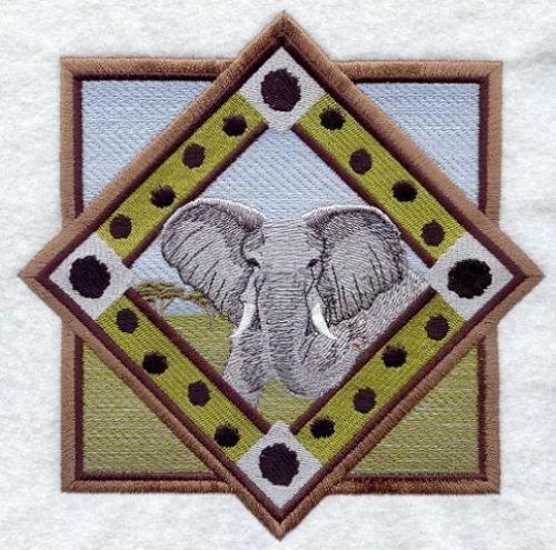 Embroidered Fleece Jacket - Elephant M1616 Sizes S - XXL