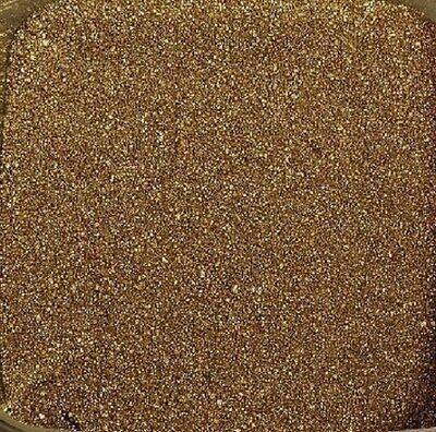 FARBSAND 500 Gramm. Dekosand, Goldsand, Bastelsand. 0,5 kg Sand farbig GOLD -39 Farbigen Sand 5 Kg